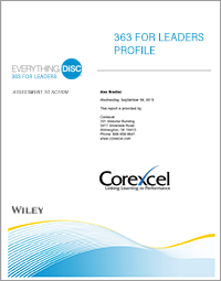 360 Feedback Profile - Everything DiSC 363 for Leaders Report Cover