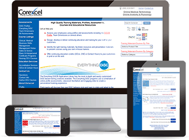 Corexcel Website Redesign